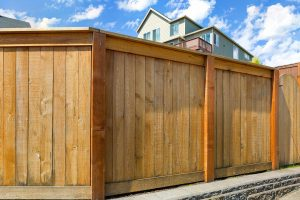 Wood Privacy Fence built in Kenner, Louisiana surrounding a home.